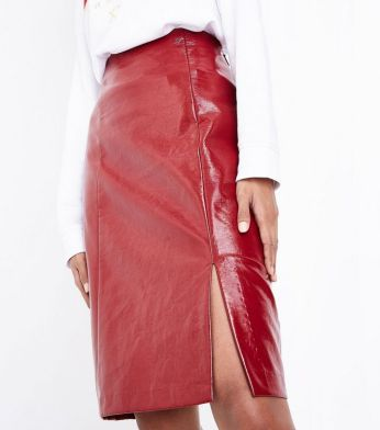 red-patent-leather-look-pencil-skirt